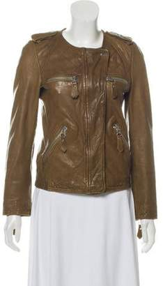 Etoile Isabel Marant Quilted Biker Leather Jacket