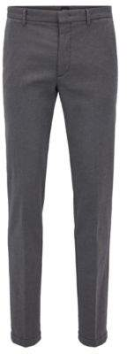 BOSS Hugo Cotton Pant, Tapered Fit Kaito W 40R Dark Grey