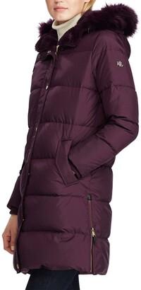 Lauren Ralph Lauren Faux Fur Trim Quilted Hooded Down & Feather Parka
