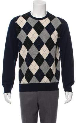 Dolce & Gabbana Argyle Crew Neck Sweater
