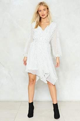 Nasty Gal Is It Dot in Here Polka Dot Midi Dress