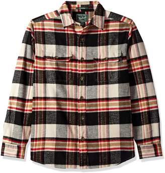 Woolrich Men's Oxbow Bend Flannel Shirt Modern Fit, Black/White