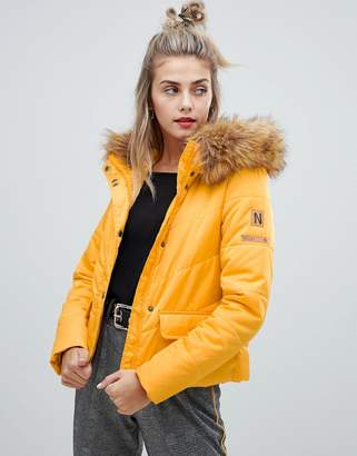 Noisy May faux fur padded parka