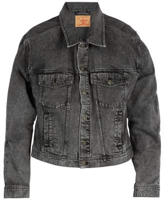 Y/Project Double Layered Denim Jacket - Mens - Black