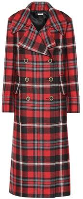 Miu Miu Checked wool coat