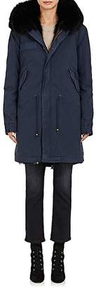 Mr & Mrs Italy Women's Fur-Trimmed & -Lined Hooded Cotton Parka