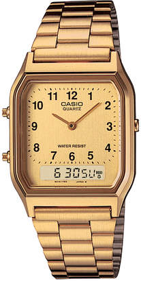 G-Shock Women's Casio Analog-Digital Gold-Tone Stainless Steel Bracelet Watch 29.8mm