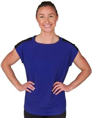 Jockey Women's Sport Illusion Cap Sleeve Tee
