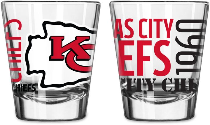 Boelter NFL Kansas City Chiefs 2-Pack Shot Glass Set