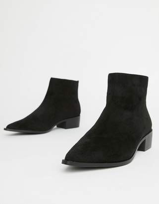 London Rebel Pointed Ankle Boots