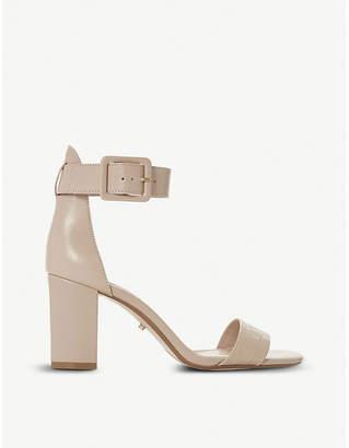 Dune Mirror leather heeled sandals
