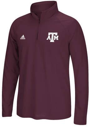 adidas Men's Texas A & M Aggies Ultimate Quarter-Zip Pullover