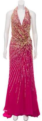 Terani Couture Silk Sequin Dress w/ Tags
