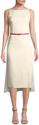 Akris Chiffon Overlay Silk Dress