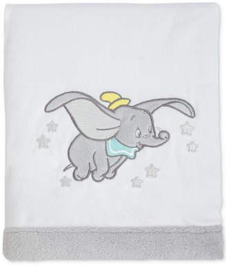 Disney Dumbo Dream Big Embroidered Applique Plush Blanket Bedding