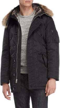 Blauer Real Fur Trim Hooded Padded Coat