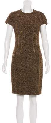 Michael Kors Short Sleeve Tweed Mini Dress