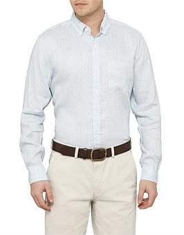 David Jones Printed Linen Shirt