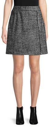 Marella Houndstooth Mini Skirt