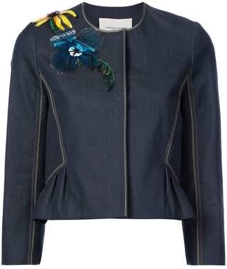 Carolina Herrera embellished denim jacket