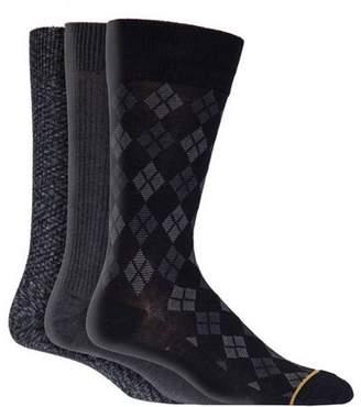 Gold Toe Gt a Goldtoe Brand GT by Men's Argyle Crew Dress Socks, 3-Pack