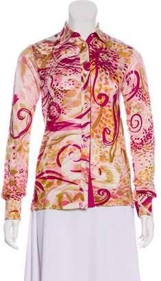 Loro Piana Silk Printed Blouse