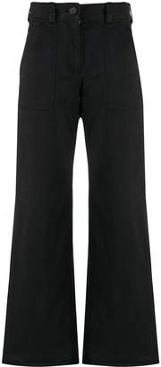 YMC wide leg cotton chinos
