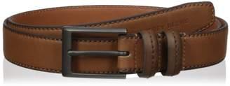 Geoffrey Beene Men's Feather Edge Dress Belt With Matte Brass Buckle