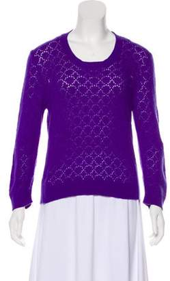 Marc Jacobs Cashmere Open Knit Sweater Purple Cashmere Open Knit Sweater