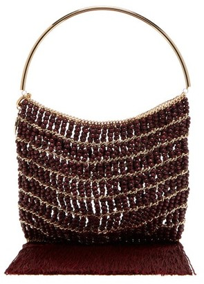 27a33f536f Rosantica By Michela Panero - Georgina Beaded Fringe Trimmed Bag - Womens -  Red Multi