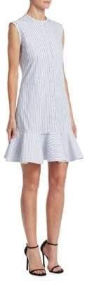 Victoria Beckham Victoria, Flounce-Hem Shirt Dress