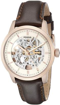 Fossil Men's ME3078 Townsman Analog Display Automatic Self Wind Brown Watch