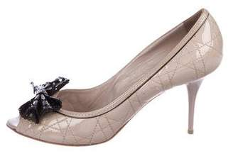 Christian Dior Cannage Patent Leather Pumps