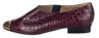Gianni Versace Gianni Vintage Versace x Sergio Rossi Embossed Cap-Toe Booties