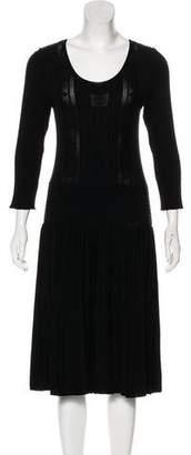 Chanel Long Sleeve Midi Dress