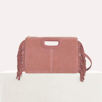 Maje M Duo clutch in suede