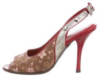 Louis Vuitton Monogram Slingback Sandals