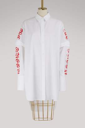 Alexander McQueen Long cotton shirt