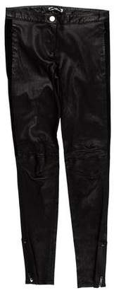 CNC Costume National Low-Rise Leather Pants w/ Tags