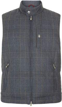 Brunello Cucinelli Padded Check Wool Gilet