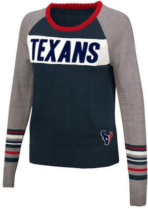 Touch By Alyssa Milano Women's Houston Texans Team Spirit Sweater