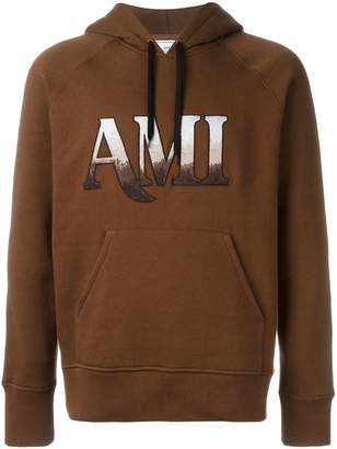 Ami Alexandre Mattiussi hooded sweatshirt ami embroidery