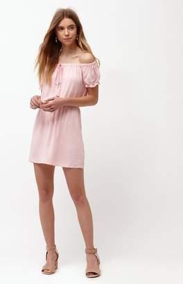 La Hearts Off-The-Shoulder Tassel Dress