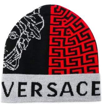 Versace Medusa head beanie