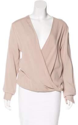 Agnona Long Sleeve Draped Top w/ Tags