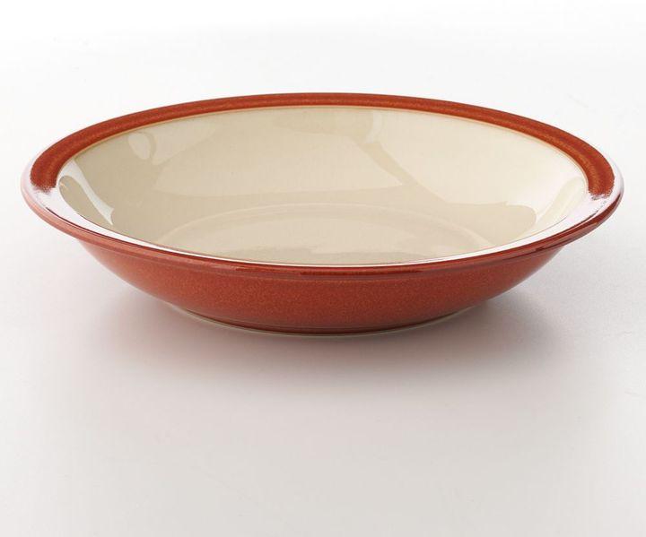 Denby fire paprika & yellow rim soup bowl