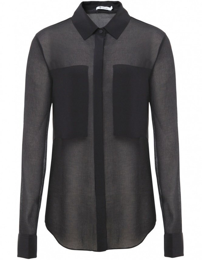 T by Alexander Wang Shirt | Sheer Silk Shirt