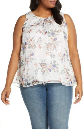 Vince Camuto Country Bouquet Sleeveless Blouse