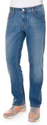 Stefano Ricci Five-Pocket Straight-Leg Denim Jeans, Blue $995 thestylecure.com