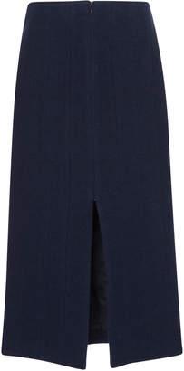 Brock Collection Pietrasole Wool -Linen Blend Midi Skirt
